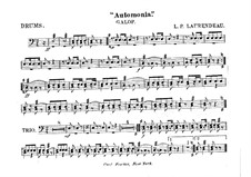 Automania. Galop for Cornet and Orchestra: Drum part by Louis-Philippe Laurendeau