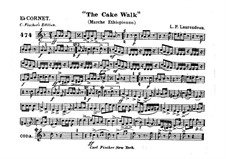 The Cake Walk for Cornet and Orchestra: Cornet in Es part by Louis-Philippe Laurendeau