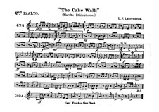 The Cake Walk for Cornet and Orchestra: Alto horn in Es II part by Louis-Philippe Laurendeau
