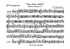 The Cake Walk for Cornet and Orchestra: Trombone II part by Louis-Philippe Laurendeau