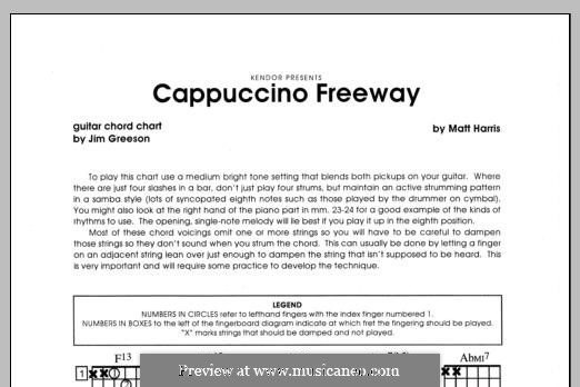 Cappuccino Freeway: Партия гитары by Matthew Harris