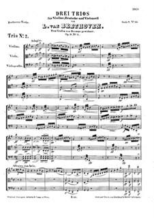 Струнное трио No.3 соль мажор, Op.9 No.1: Партитура by Людвиг ван Бетховен
