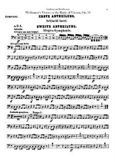 Победа Веллингтона, или Битва при Виттории, Op.91: Партии ударных by Людвиг ван Бетховен