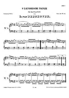 Семь лендлеров, WoO 11: Для фортепиано by Людвиг ван Бетховен