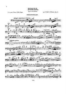 Фантазия на темы из оперы 'Норма' Беллини, Op.58: Партия виолончели by Фредерик Бриссон