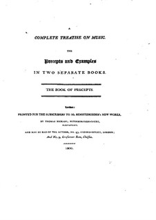 Complete Treatise on Music: Complete Treatise on Music by Anton Bemetzrieder