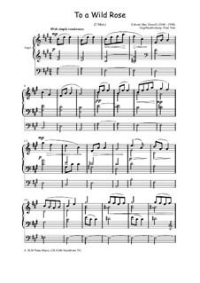 No.1 К дикой розе: For organ, Op.36 by Эдвард Макдоуэлл