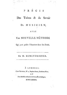 Abstract of the Talents and Knowledge of a Musician: French text by Anton Bemetzrieder