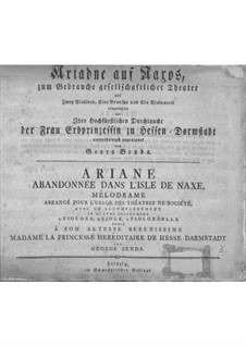 Ariadne auf Naxos für Stimmen und Streicher: Ariadne auf Naxos für Stimmen und Streicher by Георг Бенда
