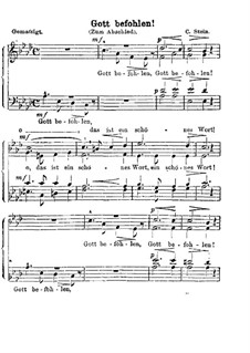 Gott befohlen! (Zum Abschied): Gott befohlen! (Zum Abschied) by Карл Штайн
