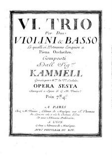 Шесть сонат для двух скрипок и бассо континуо, Op.6: Скрипка II by Антонин Каммель