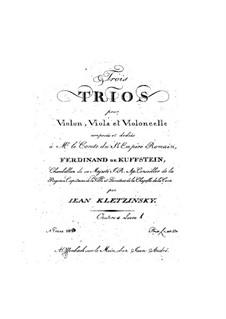 Три струнных трио, Op.4: Партия скрипки by Jan Baptysta Kleczyński