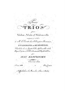Три струнных трио, Op.4: Партия альта by Jan Baptysta Kleczyński