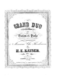 Большой концертный дуэт для скрипки и альта, Op.2: Партии by Генрих Эрнст Кайзер