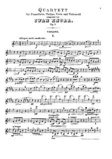 Фортепианный квартет ми-бемоль мажор, Op.3: Партитура, Партии by Ivan Knorr