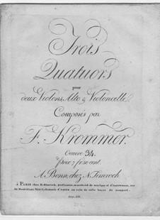 Три струнных квартета, Op.34: Партии by Франц Кроммер