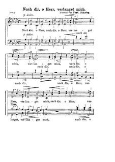 Nach dir, o Herr, verlanget mich: Singpartitur by Фердинанд Мёринг
