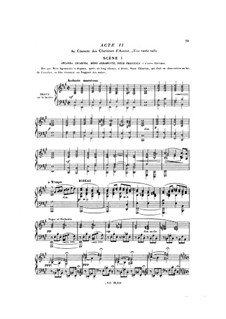 La reine Fiammette: Acts II-III, for soloists, choir and piano by Ксавье Леру