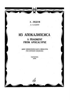 Из апокалипсиса, Op.66: Партитура by Анатолий Лядов