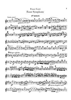 Фауст-симфония, S.108: Партии I-II гобоев by Франц Лист