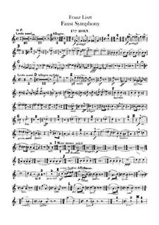 Фауст-симфония, S.108: Партии валторн I-IV by Франц Лист