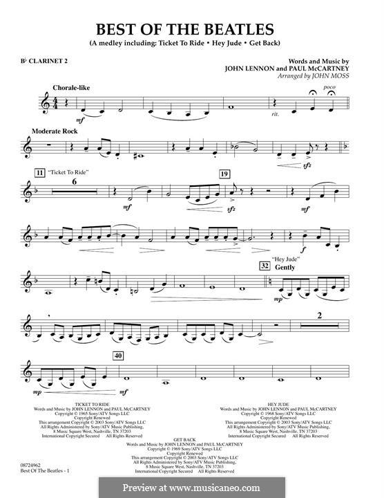 Best of the Beatles: Bb Clarinet 2 part by John Lennon, Paul McCartney