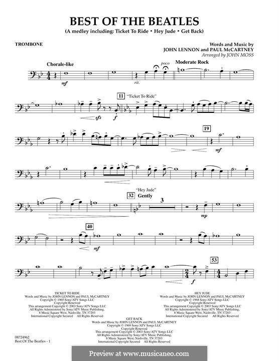 Best of the Beatles: Партия тромбона by John Lennon, Paul McCartney