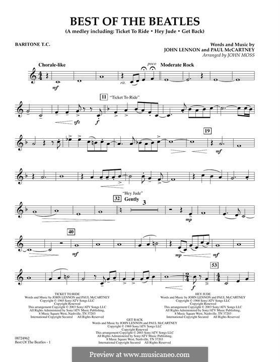 Best of the Beatles: Baritone T.C. part by John Lennon, Paul McCartney