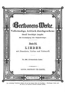 Двенадцать шотландских песен, WoO 156: Двенадцать шотландских песен by Людвиг ван Бетховен