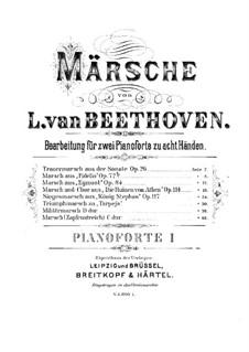 Марш для военного оркестра, WoO 20: Версия для 2 фортепиано в 8 рук – партия I фортепиано by Людвиг ван Бетховен