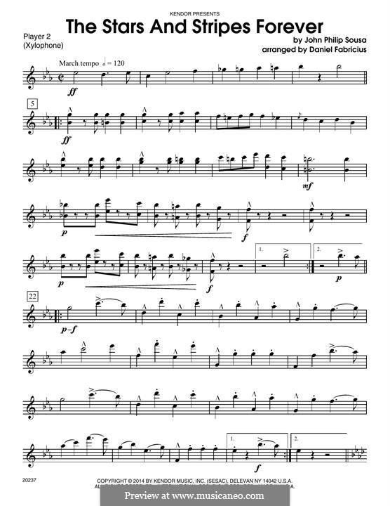Звёзды и полосы навсегда: For percussion - Percussion 2 by Джон Филип Суза