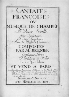 Кантаты для голоса и бассо континуо: Тетрадь VII by Nicolas Bernier