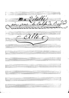 Калиф Багдадский: Ma Zetulbé – violas part by Адриен Буальдье
