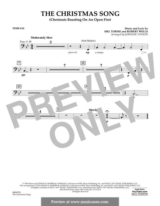 Concert Band version: Партия литавр by Mel Tormé, Robert Wells