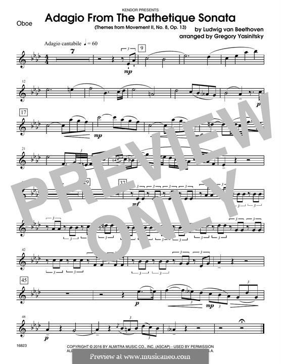 Часть II: Themes, for winds - oboe part by Людвиг ван Бетховен