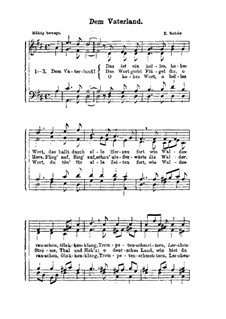 Dem Vaterland: Singpartitur by Эдуард Роде