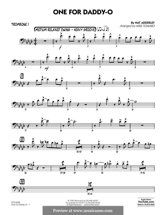 One for Daddy-O: Trombone 1 part by Nat Adderley Jr.