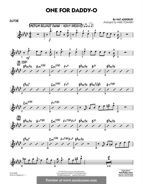 One for Daddy-O: Партия гитары by Nat Adderley Jr.