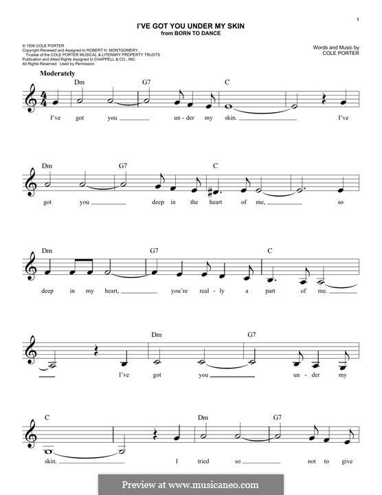 I've Got You under My Skin: Для клавишного инструмента by Кол Портер