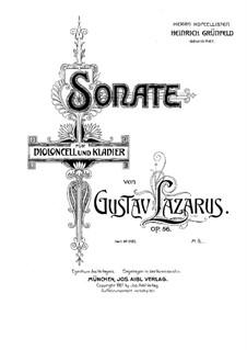 Соната для виолончели и фортепиано ре мажор, Op.56: Партитура by Густав Лазарус