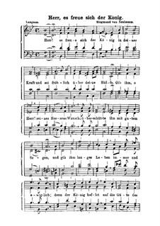 Herr es freue sich der König: Singpartitur by Сигизмунд фон Нойкомм