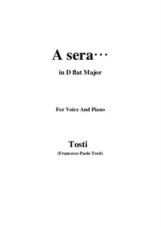 A sera: D flat Major by Франческо Паоло Тости