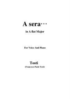 A sera: A flat Major by Франческо Паоло Тости