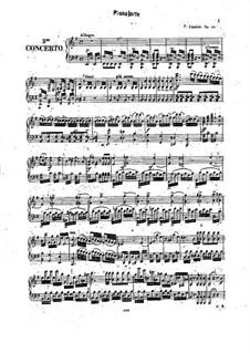 Концерт No.3 для скрипки и оркестра (или фортепиано), Op.24: Для скрипки и фортепиано – Партия фортепиано by Кароль Юзеф Липиньский