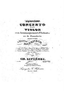 Концерт No.3 для скрипки и оркестра (или фортепиано), Op.24: Для скрипки и фортепиано – партия скрипки by Кароль Юзеф Липиньский