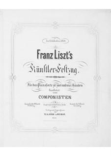Торжественное шествие артистов, к юбилею Шиллера, S.114: Клавир by Франц Лист