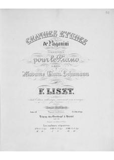 Большие этюды по Паганини, S.141: No.4-6 by Франц Лист