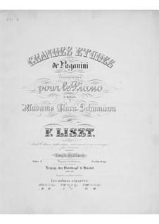 Большие этюды по Паганини, S.141: No.1-3 by Франц Лист