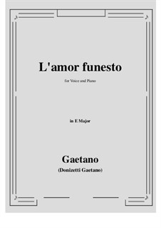 L'amor funesto. Romance: E Major by Гаэтано Доницетти