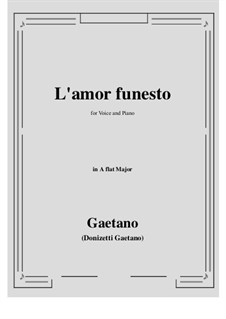 L'amor funesto. Romance: A flat Major by Гаэтано Доницетти